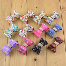 12pcs/lot 12 Color U Pick 2.5 Inch Printed Chiffon PVC Bows With Rhinestones In Center girls Hair Accessories HDJ32(China)