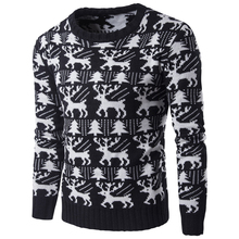 European and American Style Christmas Holiday Deer Pattern Sweater For Mens Wholesale Winter National Christmas Sweaters S100