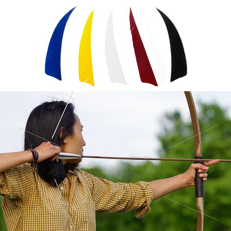 "50 x Archery 3/"" Waterdrop Turkey Feathers Hunting Arrow Fletching Handmade DIY"