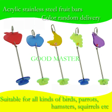 NEW ARRIVAL Stainless steel fruit bar parrot fruit fork bird toys factory direct sale LBP-1496-1500