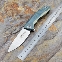 VENOM Kevin John New Concept knife,Blade:S35VN(satin),Handle:TC4 Plane bearing outdoor camping Folding knife EDC