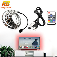 [MingBen] USB LED Strip RGB 5050 TV/PC Background Lighting Kit Cuttable with 17Key RF Controller 30leds/m 1-5 meters set