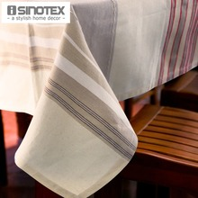 Linen Party Table Cloth Striped Square Decor Table Cover Rectangle Rustic Tablecloth For Wedding Decorative Banquet Home Feast(China)