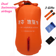 Inflatable Stooge Swim Dual Airbags Bags Floating Drifting Buoy Child Adult Lock Catch Safe Easy Learning Study Swimming Ring