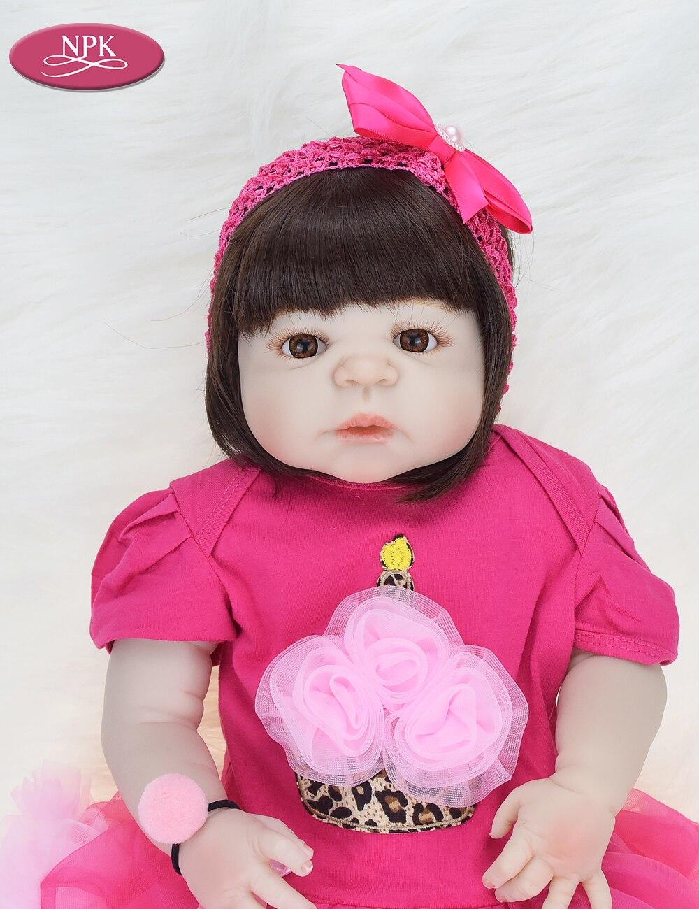 NPK 57CM Full Body Soft Silicone Girls Reborn Baby Doll Bathe Toys Lifelike Princess Girl Dolls Bebe Real Reborn Boneca Menina  (8)