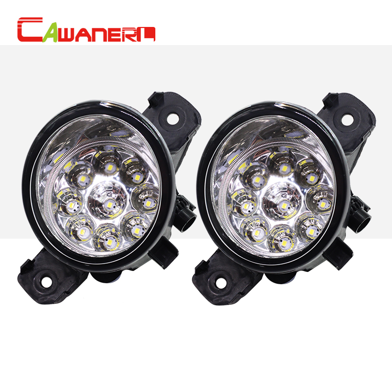 Cawanerl 1 Pair H8 H11 Car Styling LED Light Right + Left Fog Light DRL Daytime Running Light For Opel Vauxhall Movano 2010-2015<br>