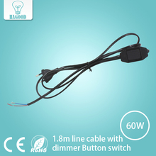 Light dimmer Cord wire Light Switching Plug Power Button switch 1.8m Line Cable LED Lamp