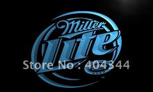LE016- Miller Lite Beer Displays logos   LED Neon Light Sign   home decor shop crafts