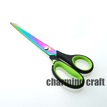 Titanize/Embroider/Gulch-gold Sewing Scissors stainless steel Tailor For Fabric Craft Household 20cm CP0364