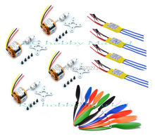 4pcs XXD A2212 A 2212 1400kv Brushless Motor + 30A Esc 1045 Propeller for Quad rotor Multicopter and RC Aircraft