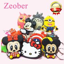 Zoeber Christmas Anime Cartoon Keychain children bag key chains phone straps Marvel owl KT pendants charms model keyring(China)