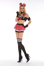 Sexy minni mouse costume halloween cosplay fancy love live cosplay anime mujer sexy dress women adult dress adult miki mouse