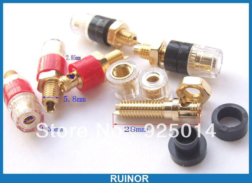 20pcs Copper Crystal Binding Post for Speaker Amplifier Terminal 4mm Banana Plug<br>