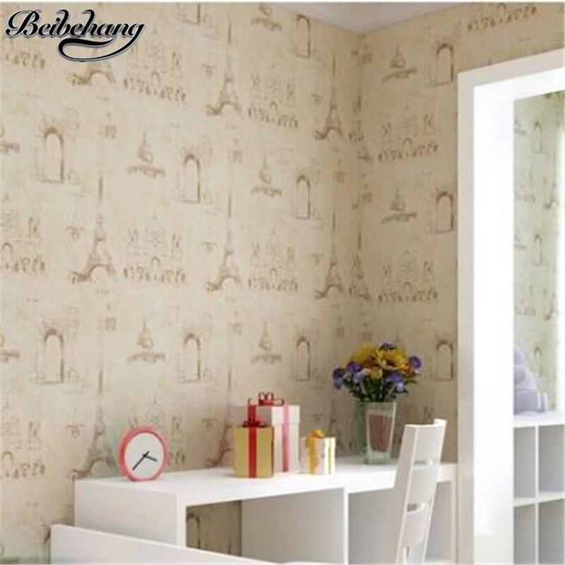 beibehang Jane Eugene Eiffel Tower Wallpaper Kids Room Non Woven Wallpaper Warmer Bedroom Living Room TV Background Wallpaper<br>