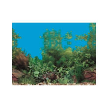 "9099 19.3"" x 48"" Double Sided Fish Tank Background Colorful Plant/Green Grass Aquarium Decoration Picture Poster Wall Decor"