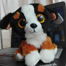 2016 TY BEANIE BABIES 15CM 6inch ROSCOE Dog Big Eyes Plush Toys Stuffed animals children toy soft toy home decor(China)