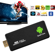 MK809III Android 5.1 TV Box RK3229 Quad Core 2GB/16GB WIFI 4K 1080P HDMI Android TV Stick BT4.0 HD Media Player Mini Set-Top Box(China)