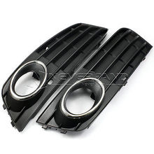 One Pair For Audi A4 2009-2011 B8 A4L Front Bumper Fog Light Grilles Grills Non-sline Left & Right Side Freeshipping D10