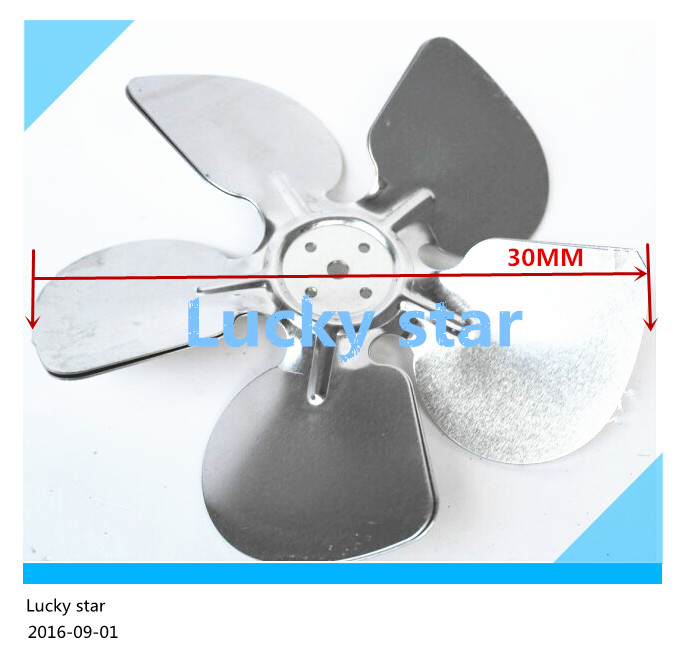 100% new for High-quality for Refrigerator cooling motor fan aluminum air blade 30CM = 300MM<br><br>Aliexpress