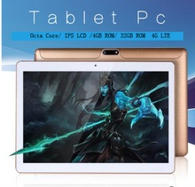 10.1 inch tablets 1280*800 Octa Core 3G\4G LTE Tablet phone 4GB/ 32GB Dual SIM Android 6.0 Bluetooth GPS Tablet PC computer 9 10(China)