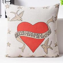 Factory Direct Supply 2017 Latest Design British Love Series Linen Lovers Throw Pillow Cushion For Wedding Decor Gift