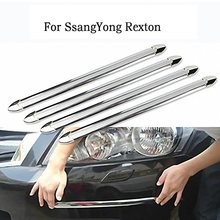 4 Pcs/set Silver Tone Powdered Car Door Bumper Guard Protector Sticker Car Styling For SsangYong Rexton