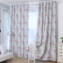 2016 Blinds New Arrival Garden Floral Curtain Cortina Curtains Shading Cloth High-grade Bedroom printed voile curtain custom