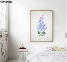 High - definition small freshness Nordic IKEA style simple modern decorative painting frameless painting