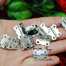 Wholesale White Metal Hinge,Cabinet Door Hinge 4 Holes Butterfly Antique,Vintage Butterfly Hinge,16*13mm,500Pcs(China)