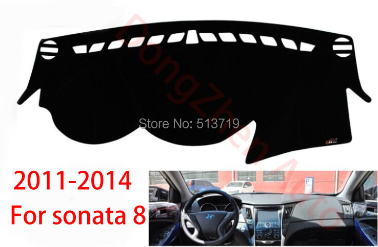 Car dashboard Avoid light pad Instrument platform desk cover Mats Carpets Auto accessories For hyundai sonata 8 2011-2014(China (Mainland))