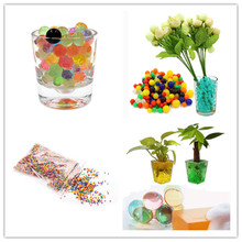 10000pcs 1-3mm Crystal Soil Mud Hydrogel Gel Kids Toy Water Beads Growing Up Water Balls Wedding Home Flower Decoration 6zSH803(China)