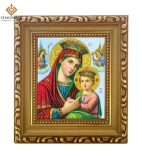 Factory outlets cheap wood photo frame lcon of Part of the Old Testament theology of Mary byzantine  religious orthodox catholic