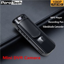 Mini Camera Recording Pen IDV009 1080P Sport DV Camcorder with 180 Rotation Lens/MP3 Player Mini DVR Camera Video Audio Recorder(China)