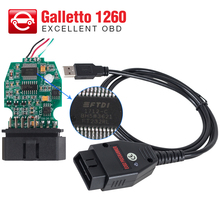 Galletto 1260 ECU Chip Tuning Tool EOBD with FTDI FT232RL Chip OBD2 OBDII Flasher Galletto 1260 ECU Flasher with multi-languages(China)