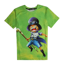Animation One Piece Characters Monkey D Luffy Sabo 3D Printed Graphic Tees women/men Summer Style Casual Tops(China)