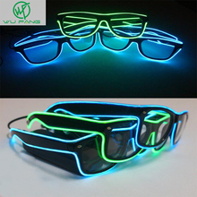 New Hot Toys fluorescent flashing led glasses luminous 10colors Rave Costume Party DJ Bright Fashion Neon LED Light Up