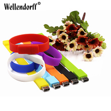 Colorful Wristbands USB Flash Drive Pendrive USB2.0 USB Stick 4gb 8gb 16gb 32gb 64gb Memory Stick Pen Drive Flash Drive