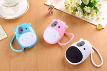 Cartoon Cow Power Bank Battery external emergency 8800mAh USB powerbank charger for iphone6 6s samsung s5 s6