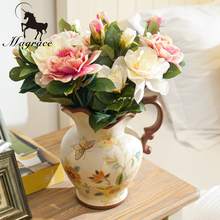 European Restoring Ancient ways ceramic vase Hand painted vase for artificial flowers Wedding Decoration Vase Jingdezhen vase