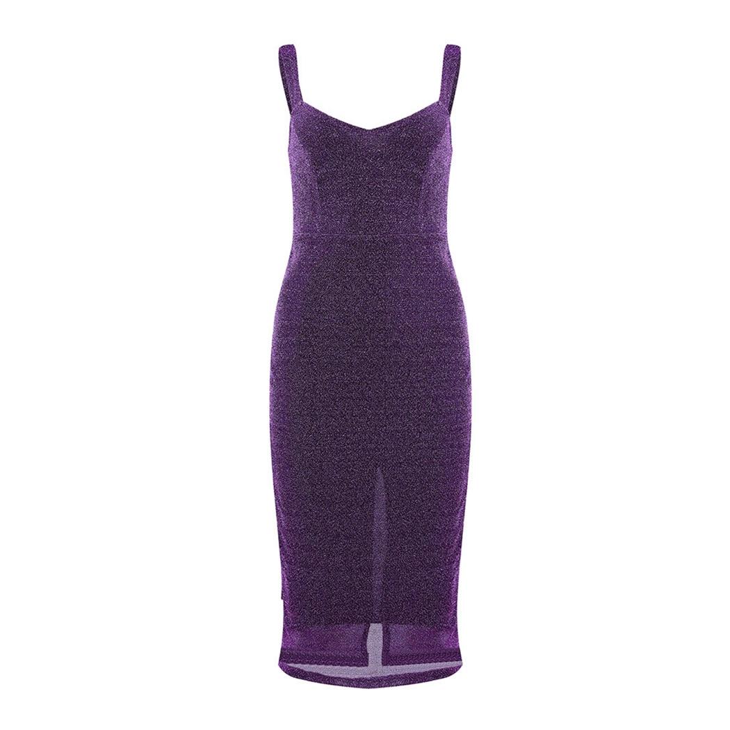 Sexy Shiny Dress Women Spaghetti Strap Glitter Dresses For Women Back Split Ladies Bodycon Midi Dress Party Clubwear Vestidos 7