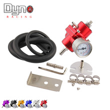 Universal JDM Adjustable FPR Fuel Pressure Regulator 0-140 PSI Gauge Gas Hose Kit(China)