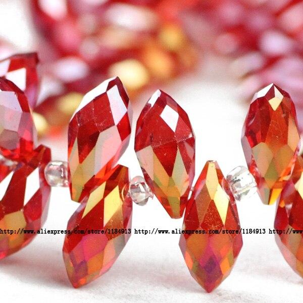 JHNBY-Briolette-Pendant-Waterdrop-AAA-Austrian-crystal-beads-6-12mm-50pcs-Tea