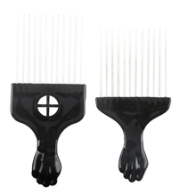 Pro 1 Pcs Afro Hair Fork Comb With Stainless Steel Durable Plastic Hairstyling Pin Comb In 2 Design Hairdressing Tools(China)