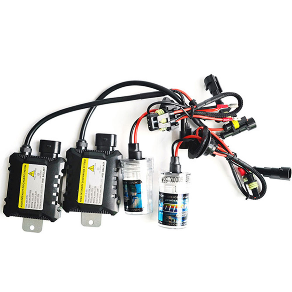 One Set 55W h7 xenon bulb Silm Ballast HID Kit 4300K 6000K 8000K xenon hid kit Car Headlight 12V h7 xenon