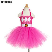 Rose,Pink Tutu Dress Tulle Baby Girls Princess Dress Children Kids Birthday Halloween Christmas Costume Fluffy Girl Party Dress(China)