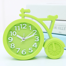 Personalized bedside desk clock small alarm clock lounged child mute alarm clock brief cartoon alarm clock(China)