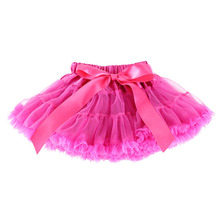 Baby Little Girls Tutu Skirts Kid Ruffles Fluffy Pettiskirts Ballet Dancing Tulle Cake Skirts 1-10y Children Green Pink Red Blue(China)