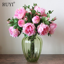 Colorful Peony Living Room artificial Flower Home Wedding Silk Rose Fake Flower Decoration European Style Floral Plants pastoral