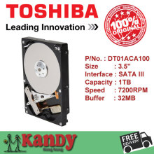 Toshiba DT01ACA100 1TB hdd 3.5 SATA 3 desktop disco duro internal sabit hard disk drive interno hd harddisk disque dur interne