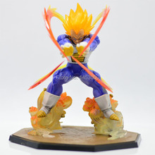 Retail Wholesale Anime Dragon Ball Z Super Saiyan Vegeta Battle State Final Flash PVC Action Figure Collectible Model Toy 15CM